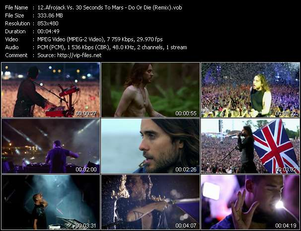 Afrojack Vs. 30 Seconds To Mars video screenshot