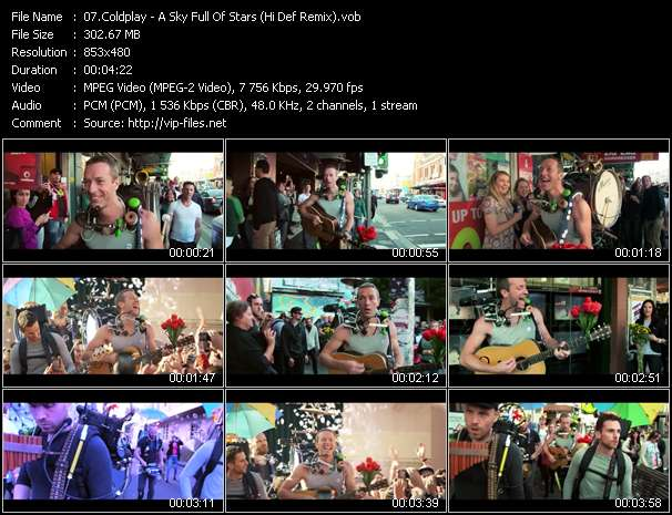 video A Sky Full Of Stars (Hi Def Remix) screen