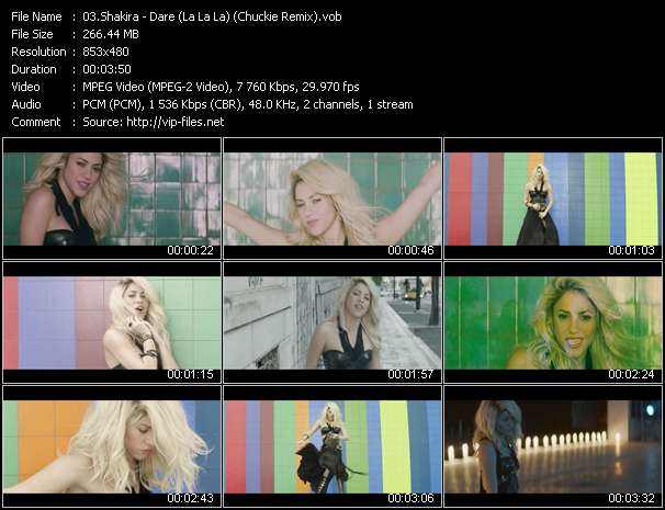Shakira video screenshot