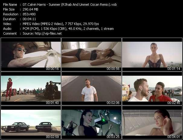 Calvin Harris video screenshot