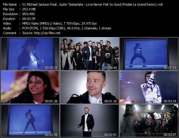 Michael Jackson Feat. Justin Timberlake video screenshot
