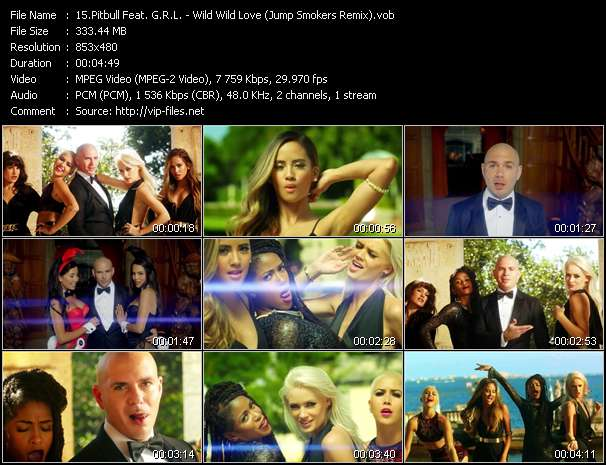 Pitbull Feat. G.R.L. video screenshot