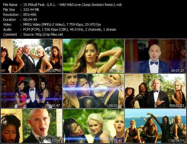 Pitbull Feat. G.R.L. video screenshot