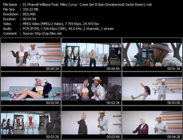 Pharrell Williams Feat. Miley Cyrus video screenshot
