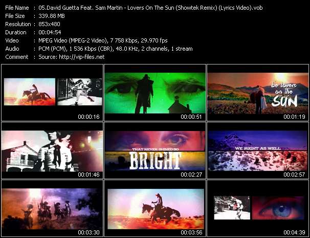 video Lovers On The Sun (Showtek Remix) (Lyrics Video) screen