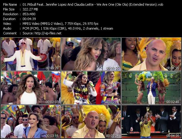 Pitbull Feat. Jennifer Lopez And Claudia Leitte video screenshot