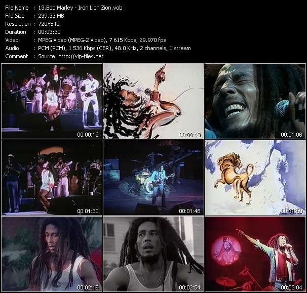 Bob Marley video screenshot