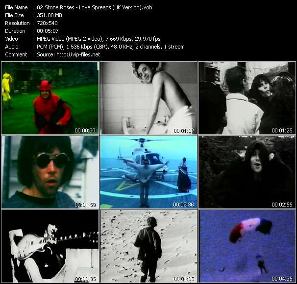 Stone Roses video screenshot
