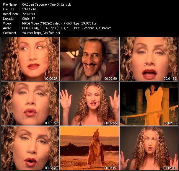 Joan Osborne video screenshot