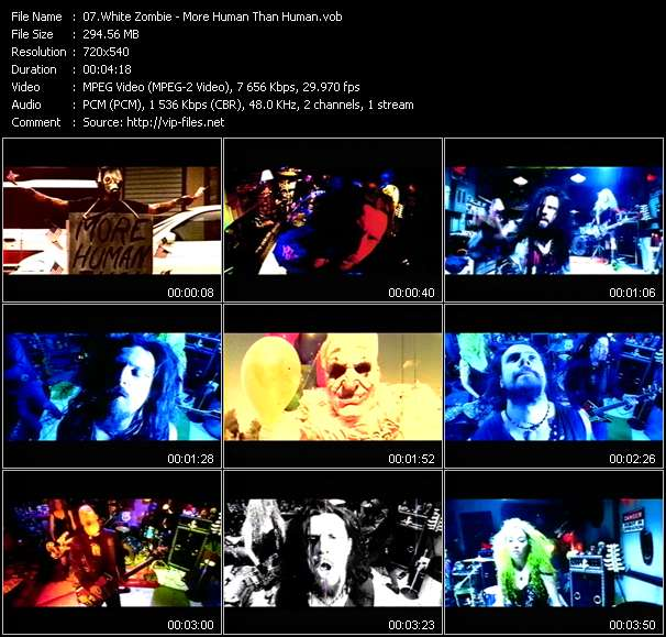 White Zombie video screenshot