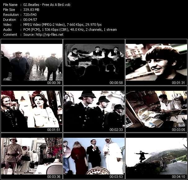 Beatles video screenshot