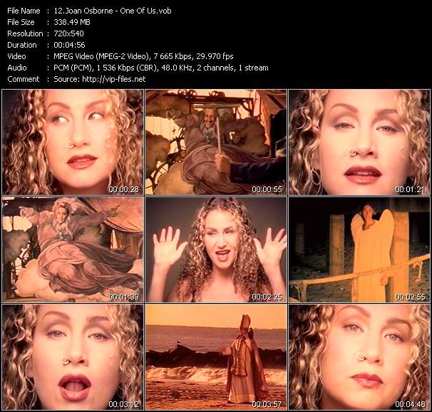 Joan Osborne video screenshot
