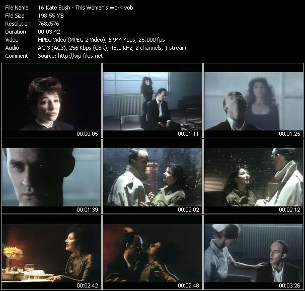 Kate Bush video screenshot