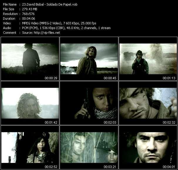 David Bisbal video screenshot