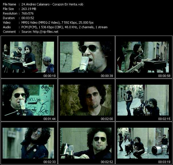 Andres Calamaro video screenshot