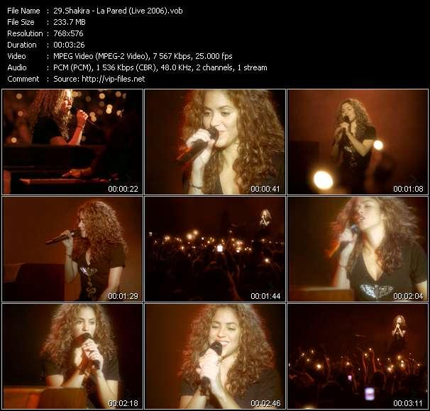 video La Pared (Live 2006) screen