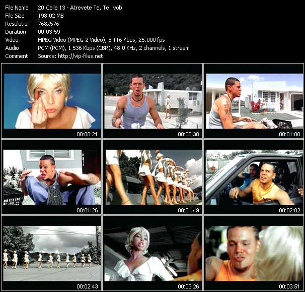 Calle 13 video screenshot