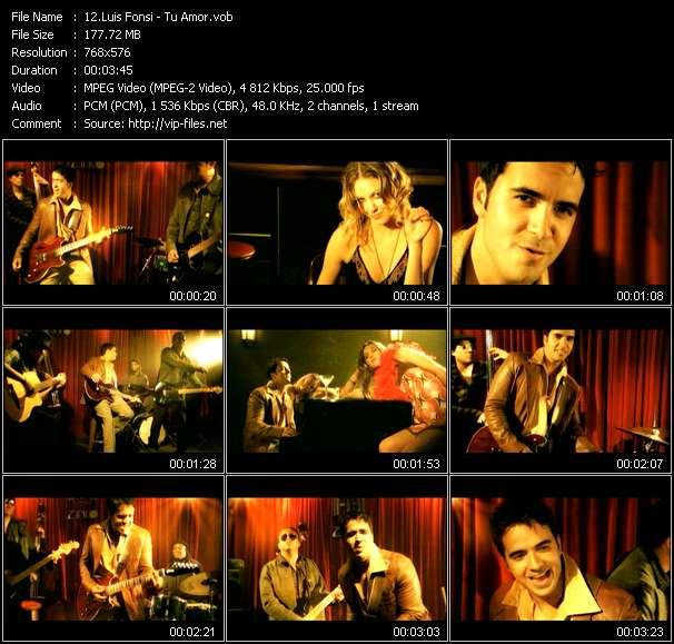 Luis Fonsi video screenshot