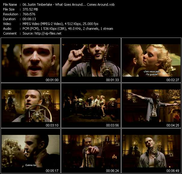 Justin Timberlake video screenshot