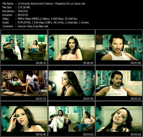 Ricardo Arjona And Chenoa video screenshot