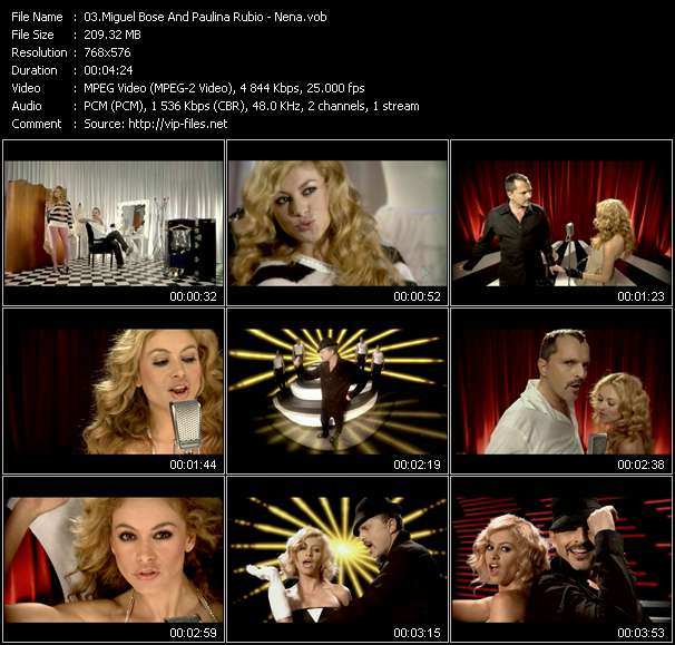 Miguel Bose And Paulina Rubio video screenshot