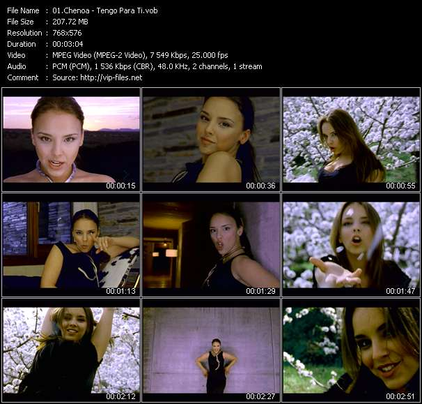 Chenoa video screenshot