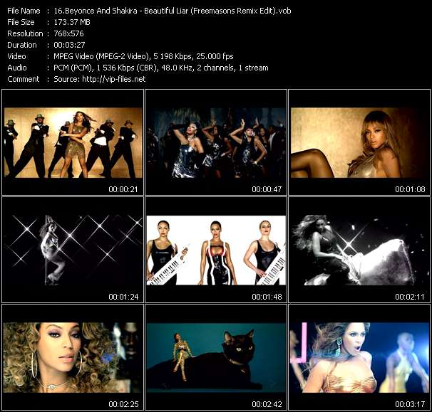 video Beautiful Liar (Freemasons Remix Edit) screen