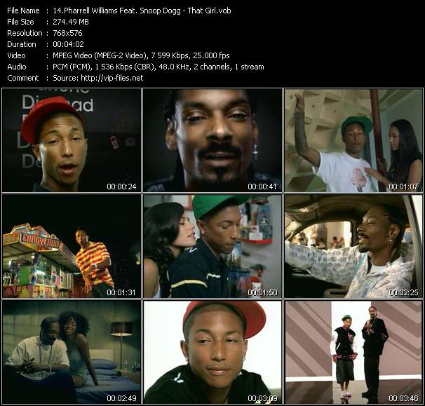 Pharrell Williams Feat. Snoop Dogg video screenshot