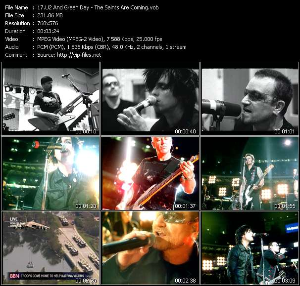 U2 And Green Day video screenshot