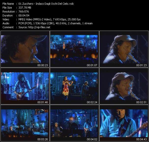 Zucchero video screenshot
