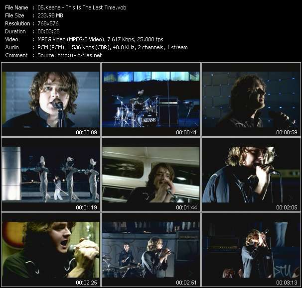 Keane video screenshot