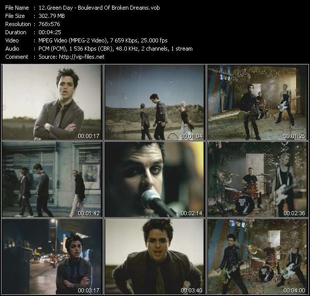 Green Day video screenshot