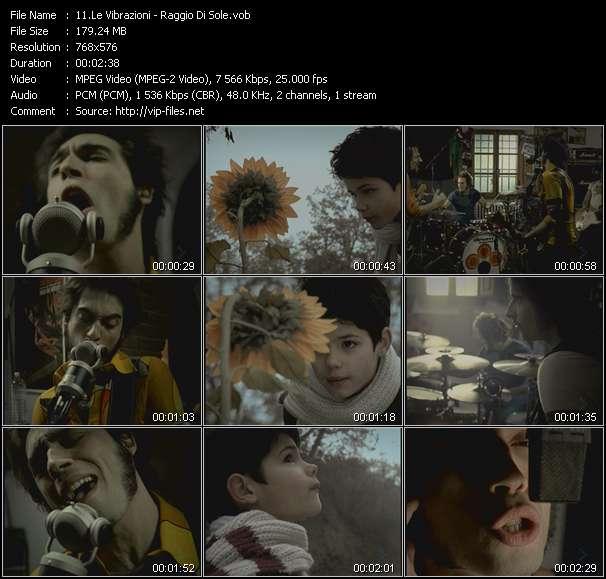 Le Vibrazioni video screenshot