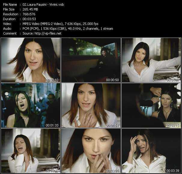 Laura Pausini video screenshot