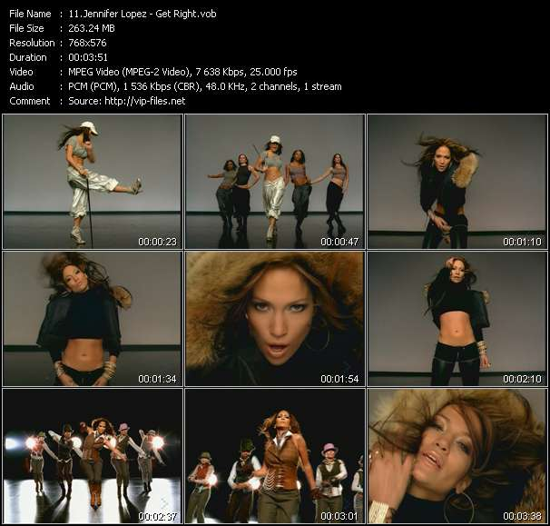 Jennifer Lopez video screenshot