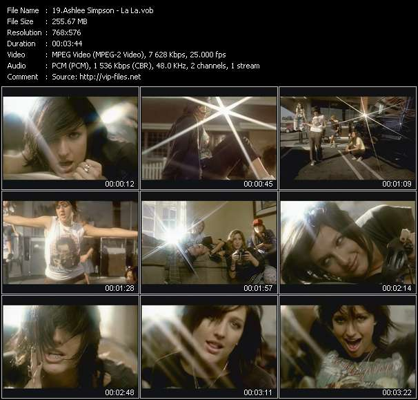 Ashlee Simpson video screenshot