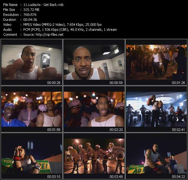 Ludacris video screenshot