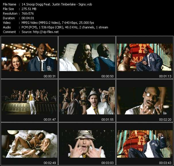 Snoop Dogg Feat. Justin Timberlake video screenshot