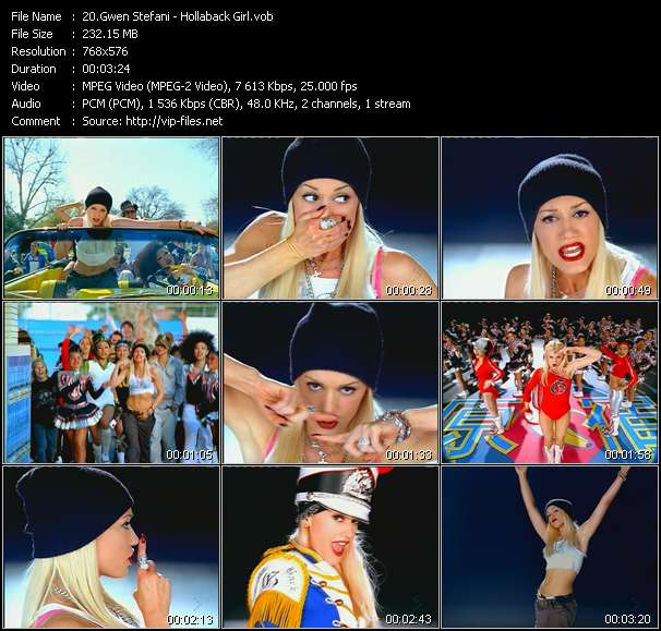video Hollaback Girl screen