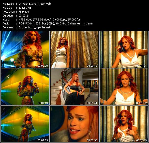 Faith Evans video screenshot