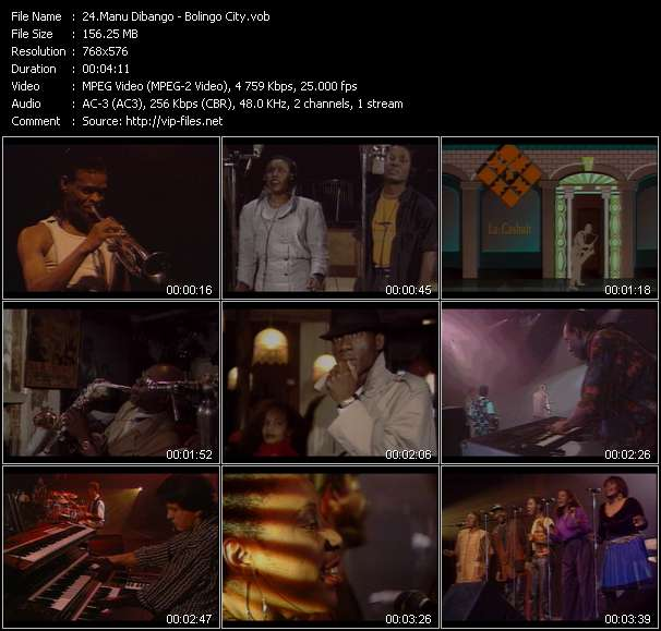 Manu Dibango video screenshot
