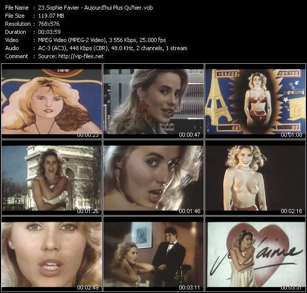 Sophie Favier video screenshot