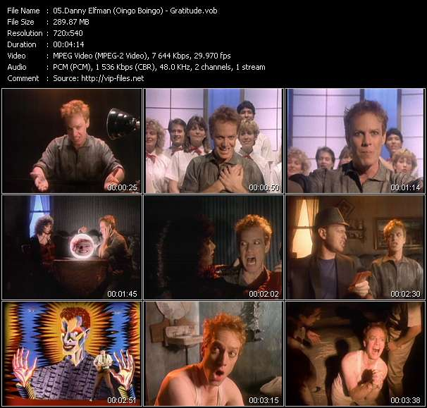 Danny Elfman (Oingo Boingo) video screenshot