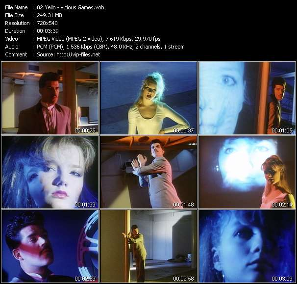 Yello video screenshot