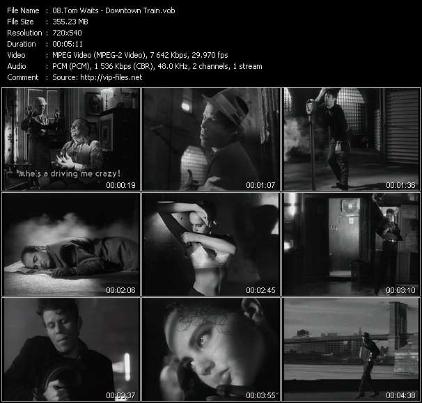 Tom Waits video screenshot