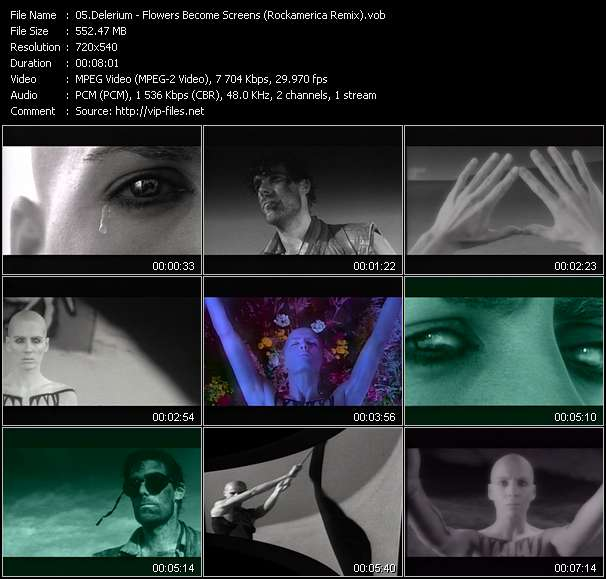 Delerium video screenshot