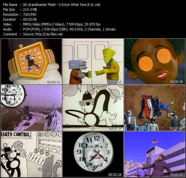 Grandmaster Flash video screenshot