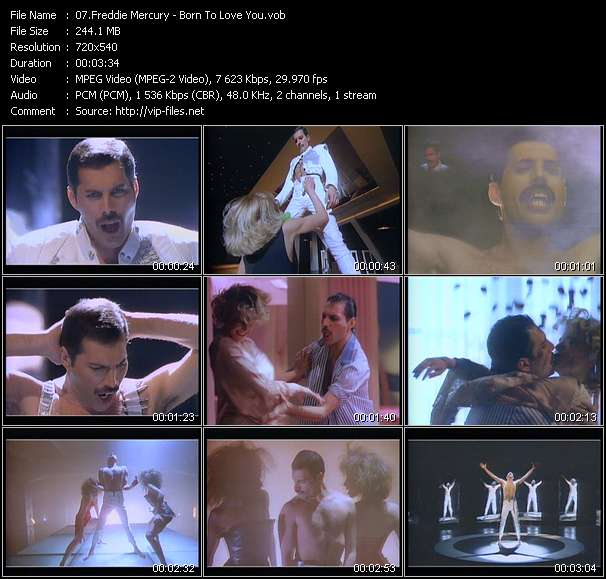 Freddie Mercury video screenshot