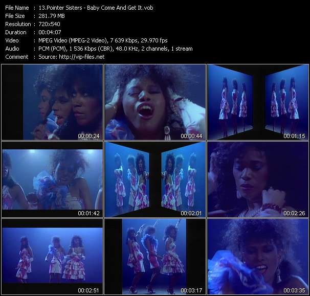 Pointer Sisters video screenshot