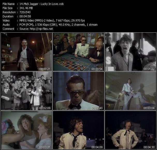 Mick Jagger video screenshot